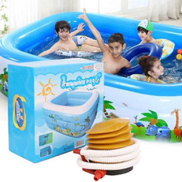 Bể Bơi Bơm Hơi 1M2 X 0.9M Cho Bé (Tặng Kèm Bơm)