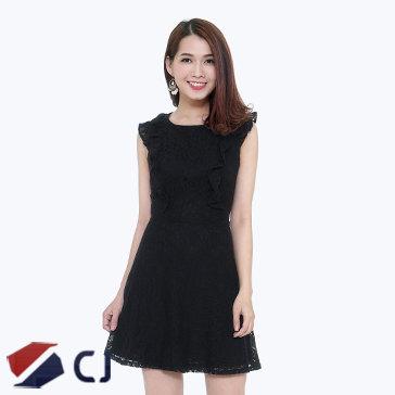 Đầm Ren Phối Bèo CJ