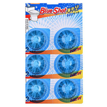 Bộ 6 Viên Tẩy Vệ Sinh Bồn Cầu Cao Cấp Hàn Quốc Blue Shot - 1 Viên 600 Lần Xả