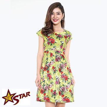 Đầm Phi Họa Tiết Thời Trang NQ Star
