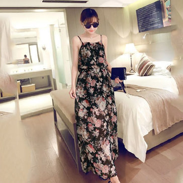 Đầm Maxi 2 Dây Họa Tiết Hoa