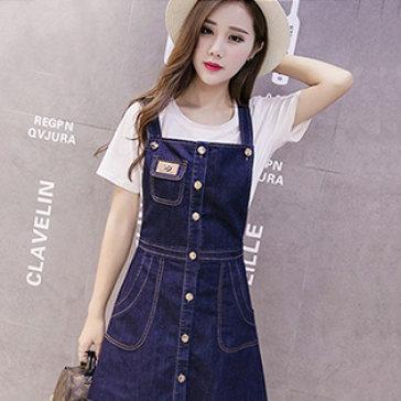 Đầm Jean Yếm Năng Động