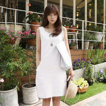 Đầm Suông Phối Túi Thanh Lịch