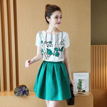 Set Áo + Chân Váy Korea