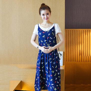 Đầm Bầu Maxi Kèm Áo Thun