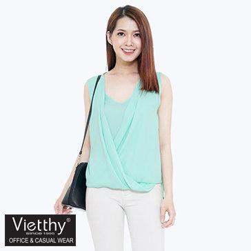 Áo Kiểu Vạt Chéo Thương Hiệu Việt Thy