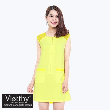 Đầm Suông Vai Lưới Voschy