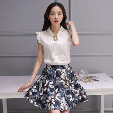 Set Áo Cánh Tiên Chân Váy Hoa