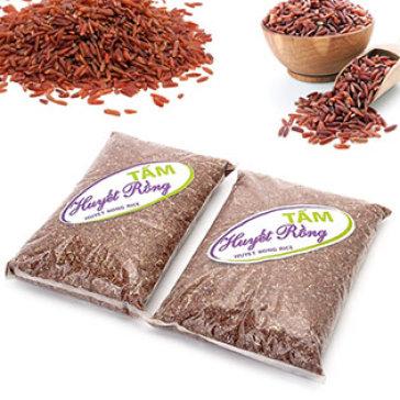 Combo 2 Gói Gạo Hữu Cơ Tấm Huyết Rồng Thơm Ngon (2kg/ 1 Gói)