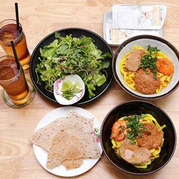 Combo 02 Mì Quảng Tôm Thịt + 02 Ly Mía Lau + 2 Khăn Lạnh - Hoa Cau Quán