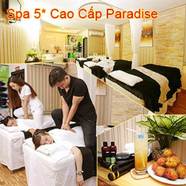 Spa 5* Cao Cấp Paradise - Liệu Pháp Căng Da Đá Nóng Toàn Thân Kiểu Nhật Kết Hợp Facial Vitamin C 90'