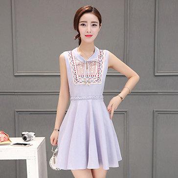 Đầm Thêu Form Xòe Korea Style