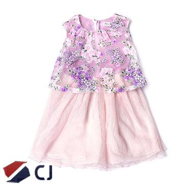 Đầm Bé Gái Phối Hoa CJ