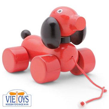Đồ Chơi Gỗ Vietoys - Con Chó Lớn (Màu Đỏ) VTU3-0014