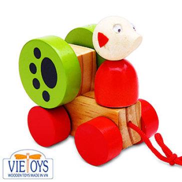 Đồ Chơi Gỗ Vietoys - Con Chó Trên Xe Kéo Dây VT3P-0125