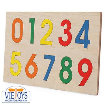Đồ Chơi Gỗ Vietoys - Tranh Ghép Học Số Từ 0-9 (20X30) VT3P-0034