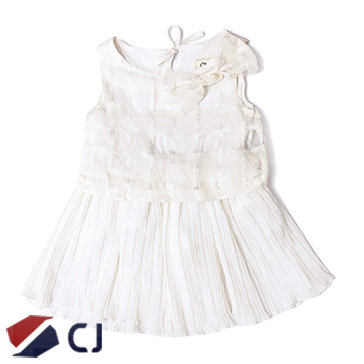 Đầm Bé Gái Đính Nơ CJ