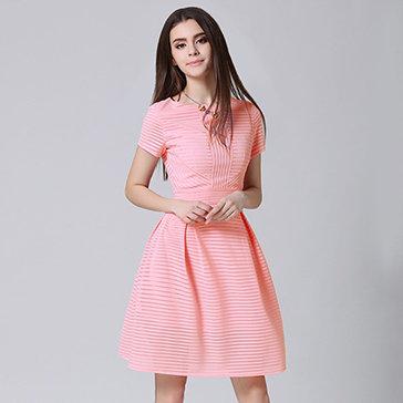 Đầm Xòe Ren Sọc Cao Cấp