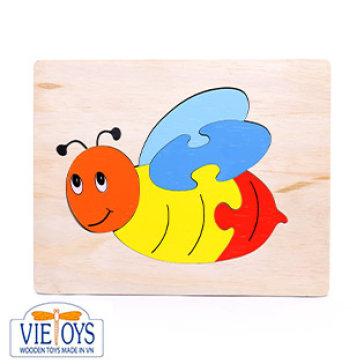 Đồ Chơi Gỗ Vietoys - Tranh Ghép Hình Con Ong (20x25) VT3P-0126-24