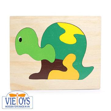 Đồ Chơi Gỗ Vietoys - Tranh Ghép Hình Con Rùa (20X25) VT3P-0088-3
