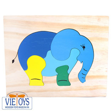 Đồ Chơi Gỗ Vietoys - Tranh Ghép Hình Con Voi (20x25) VT3P-0126-36