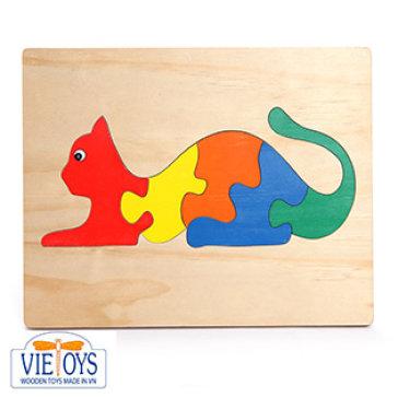 Đồ Chơi Gỗ Vietoys - Tranh Ghép Hình Con Mèo (20x25) VT3P-0088-2