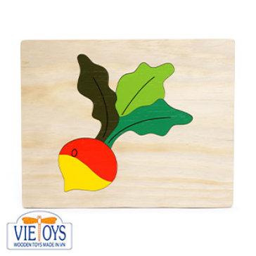 Đồ Chơi Gỗ Vietoys - Tranh Ghép Hình Củ Cải (20X25) VT3P-0126-9