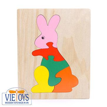 Đồ Chơi Gỗ Vietoys - Tranh Ghép Hình Con Thỏ (20x25) VT3P-0088-4