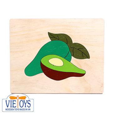 Đồ chơi gỗ Vietoys - Trang ghép hình quả bơ (20x25)