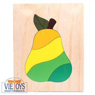 Đồ Chơi Gỗ Vietoys - Tranh Ghép Hình Quả Lê (20x25) VT3P-0126-15