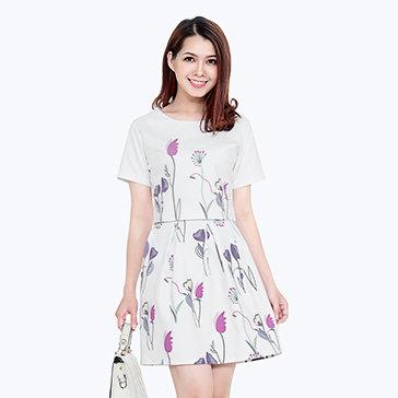 Set Áo Hoa + Chân Váy Xòe