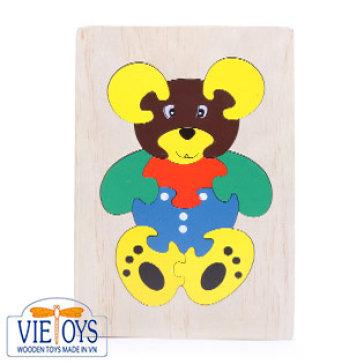 Đồ Chơi Gỗ Vietoys - Tranh Ghép Con Gấu (16x24)