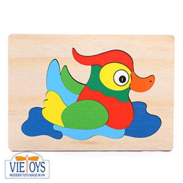Đồ Chơi Gỗ Vietoys – Tranh Ghép Con Le Le (16x24 Cm) VT3P-0087-12