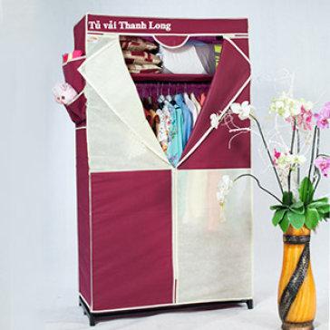 Bao Áo Tủ Vải Cao Cấp (90X45X158 CM) - T.H Thanh Long Hàng VNCLC - Không Bao Gồm Khung Tủ