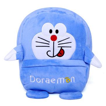 Balo Vải Nhung Dày Hình Doremon Cho Bé Dưới 12 Tuổi( Loại Lớn)
