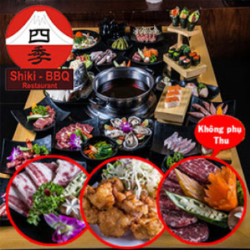 Buffet Nướng Nhật Bản Hấp Dẫn Tại Nhà Hàng Shiki BBQ