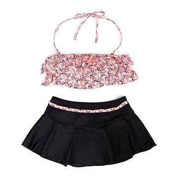 Set Quần Váy + Áo Tắm Họa Tiết