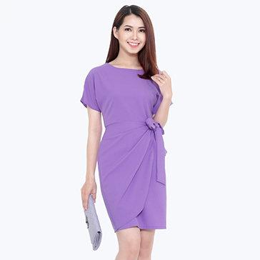 Đầm Tay Cánh Dơi Vạt Xéo