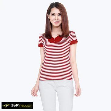 Áo Thun Kiểu Phối Sọc 66401&03 TH Sơn Nguyễn