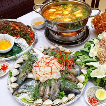 Lẩu Hải Sản Thái Lan Cho 2-3 Người Ăn Tại Làng Ẩm Thực Tân...