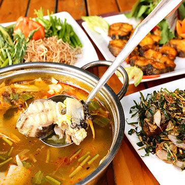 Cá Tầm Nấu Lẩu Măng Chua / Hấp / Rang Muối / Nướng Muối Ớt...
