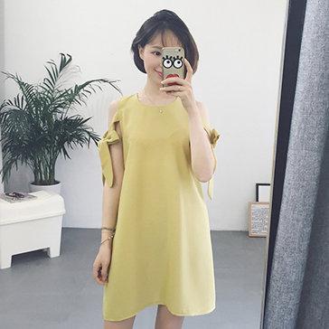 Đầm Suông Thắt Nơ Tay