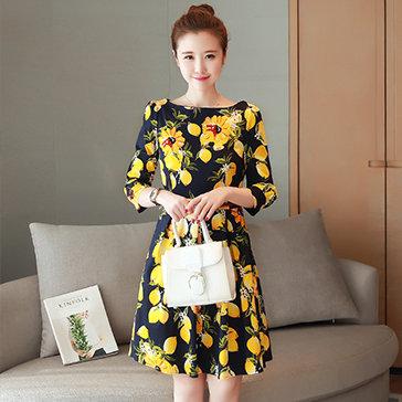 Đầm Hoa Vintage Mùa Thu