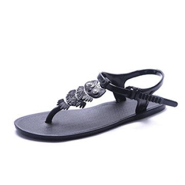 Giày Sandal Nhựa Xỏ Ngón Cú Mèo