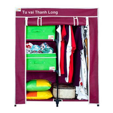 Bao Áo Tủ Vải Cao Cấp (90*46*108 Cm ) - TH Thanh Long - Không Bao Gồm Khung Tủ