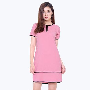 Đầm Suông Phối Kéo Misa