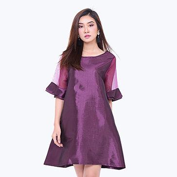 Đầm Suông Tay Loe