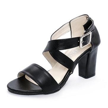 Giày Sandal Đế Trụ Quai Chéo Cá Tính Sarisiu