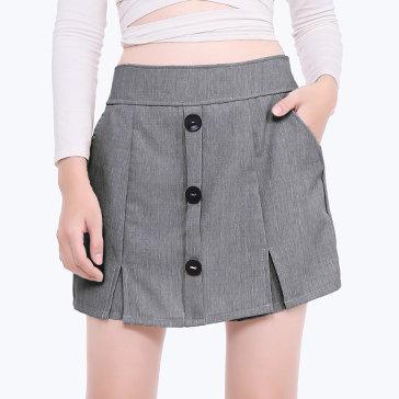 Quần Short Váy 3 Nút Street Style