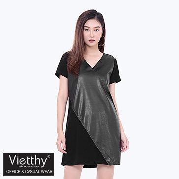 Đầm Da Form Suông Việt Thy